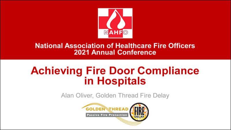 Alan Oliver of Golden Thread Fire Delay presenting at the NAHFO Virtual Conference 2021